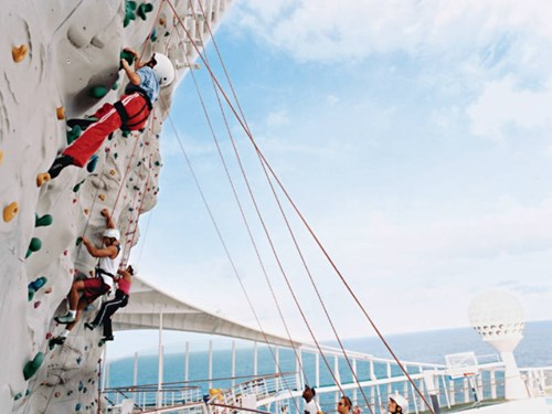 Royal Caribbean climbing wall